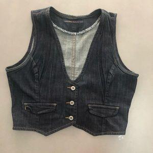 Levi's  cropped denim vest  L